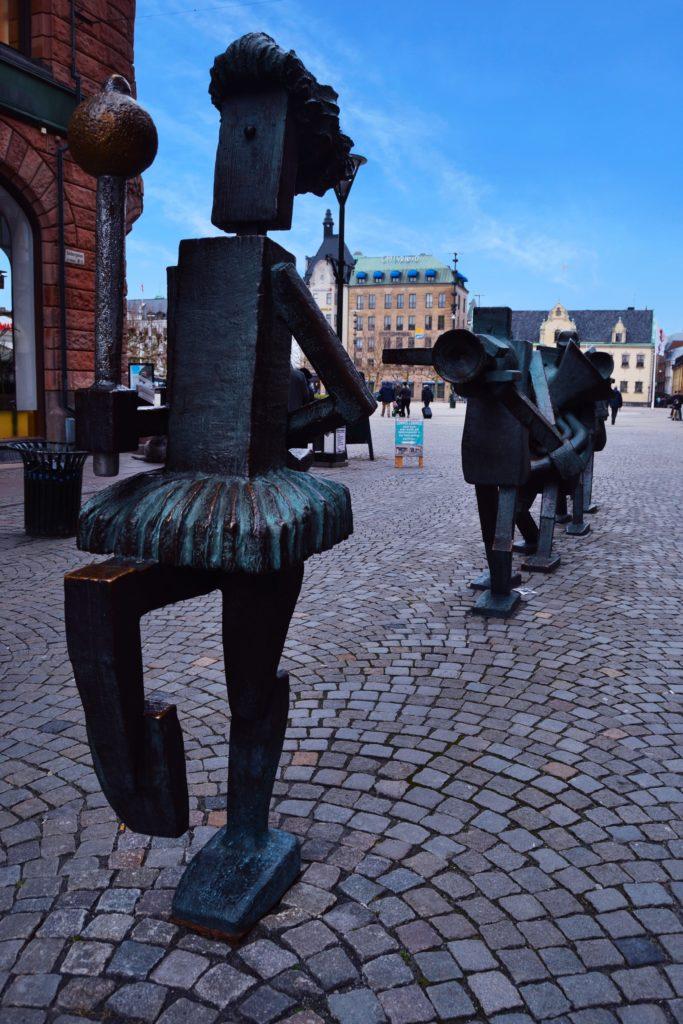 ¿que ver en Malmo? Estatua músicos de malmo